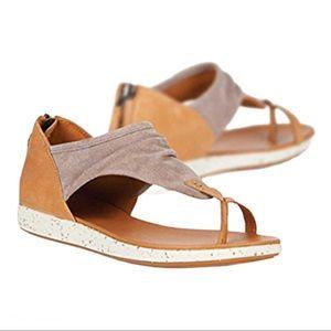 EMU Yarra Tan Soft Nubuck Sandals w/ Rear Zip US 9